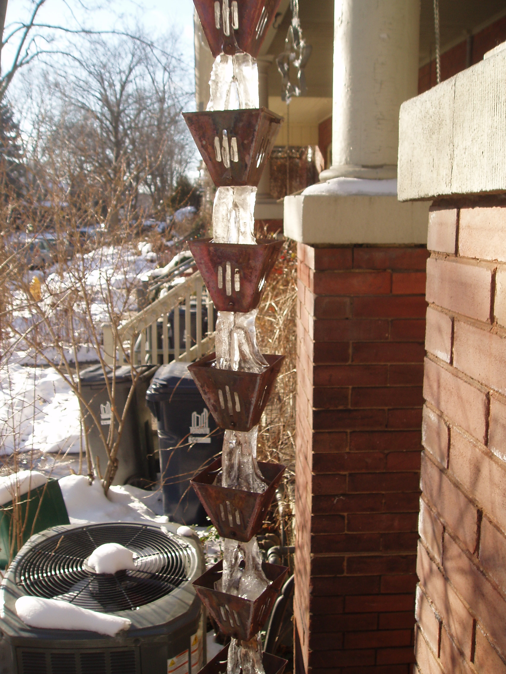 Slotted Cups in Winter
