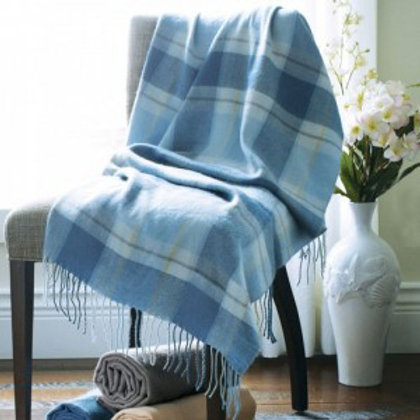 Riviera Plaid Throw