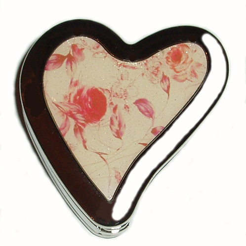 Abstract Heart Rose Foldable Purse Hook
