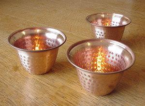 Copper Bells Tea Light Holder