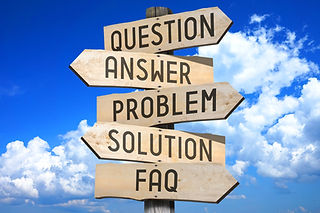 Wooden signpost - support (question, ans