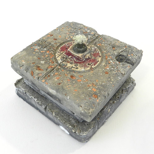 Handmade Concrete Oil Candle