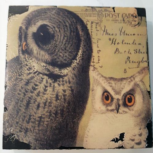 Owls Art Block
