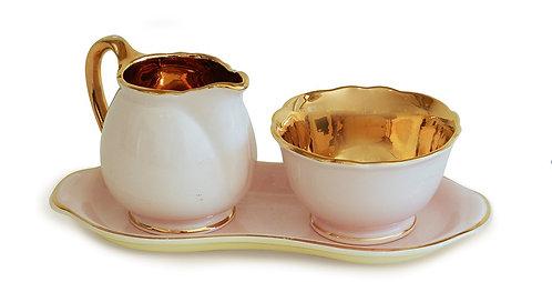 Crown Devon Cream & Sugar Set