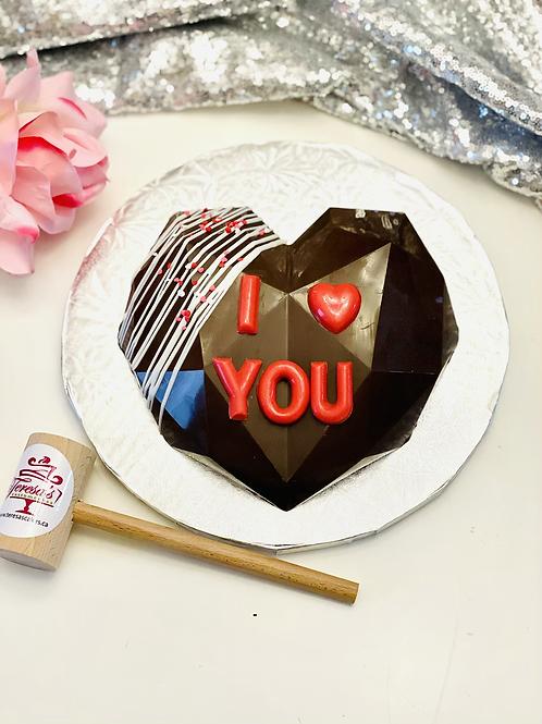 """8"""" Heart Piñata Smash Cake"""