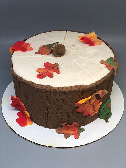 Take and Make Cake - Fall Stump