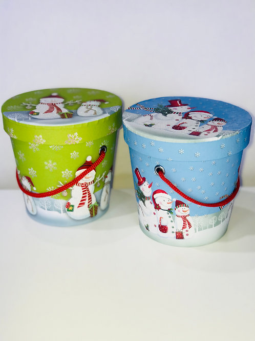 Small Christmas Design Pail 12 Pieces
