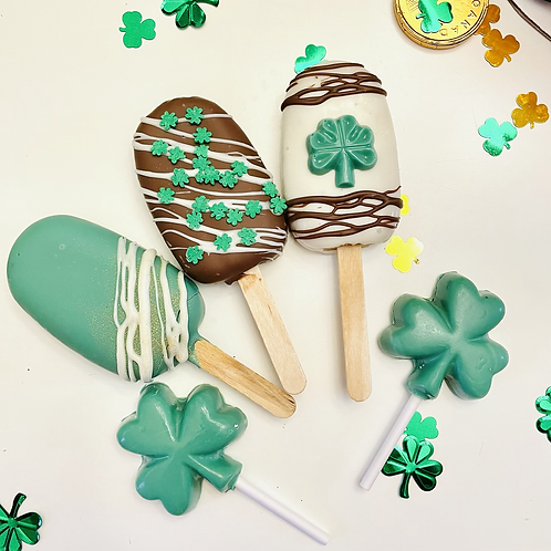 Individual cakesicles - St Patricks Day