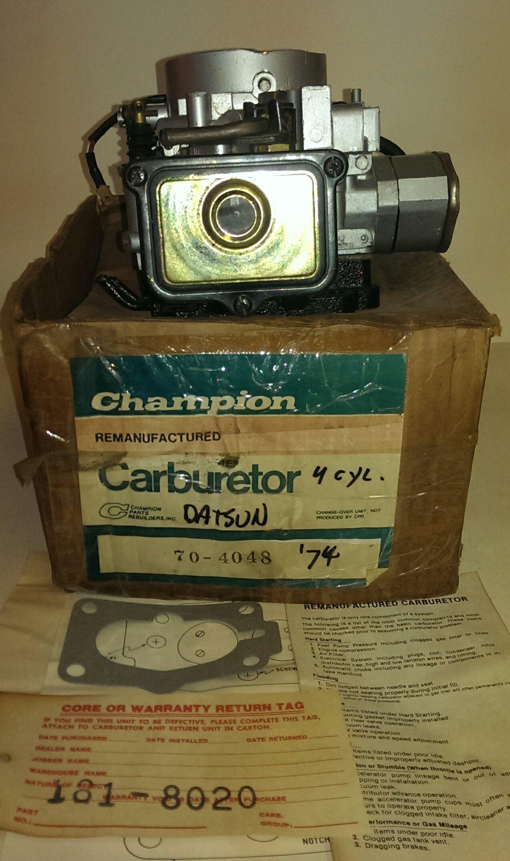 Vintage 1974 Datsun Rebuilt Carburet