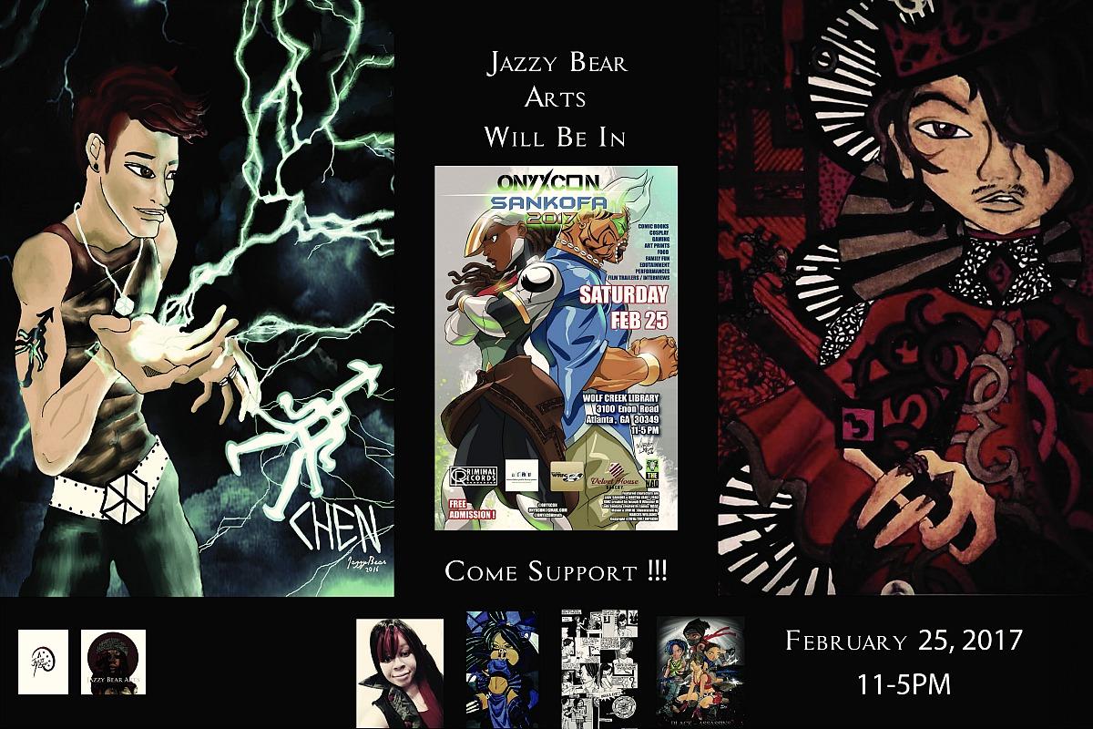 Jazzy Bear Arts Will Be At ONYXCON SANKOFA2