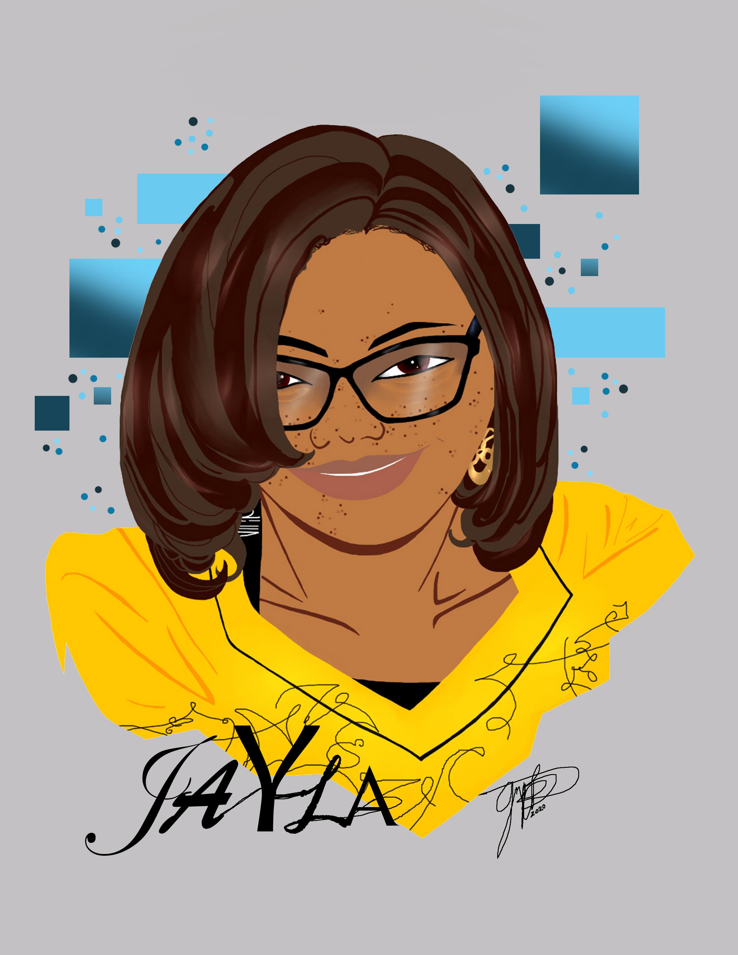 Jayla Goddess Caricature