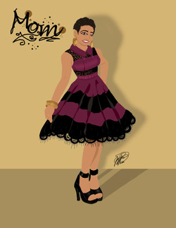 A Mother's Birthday Caricature_2020