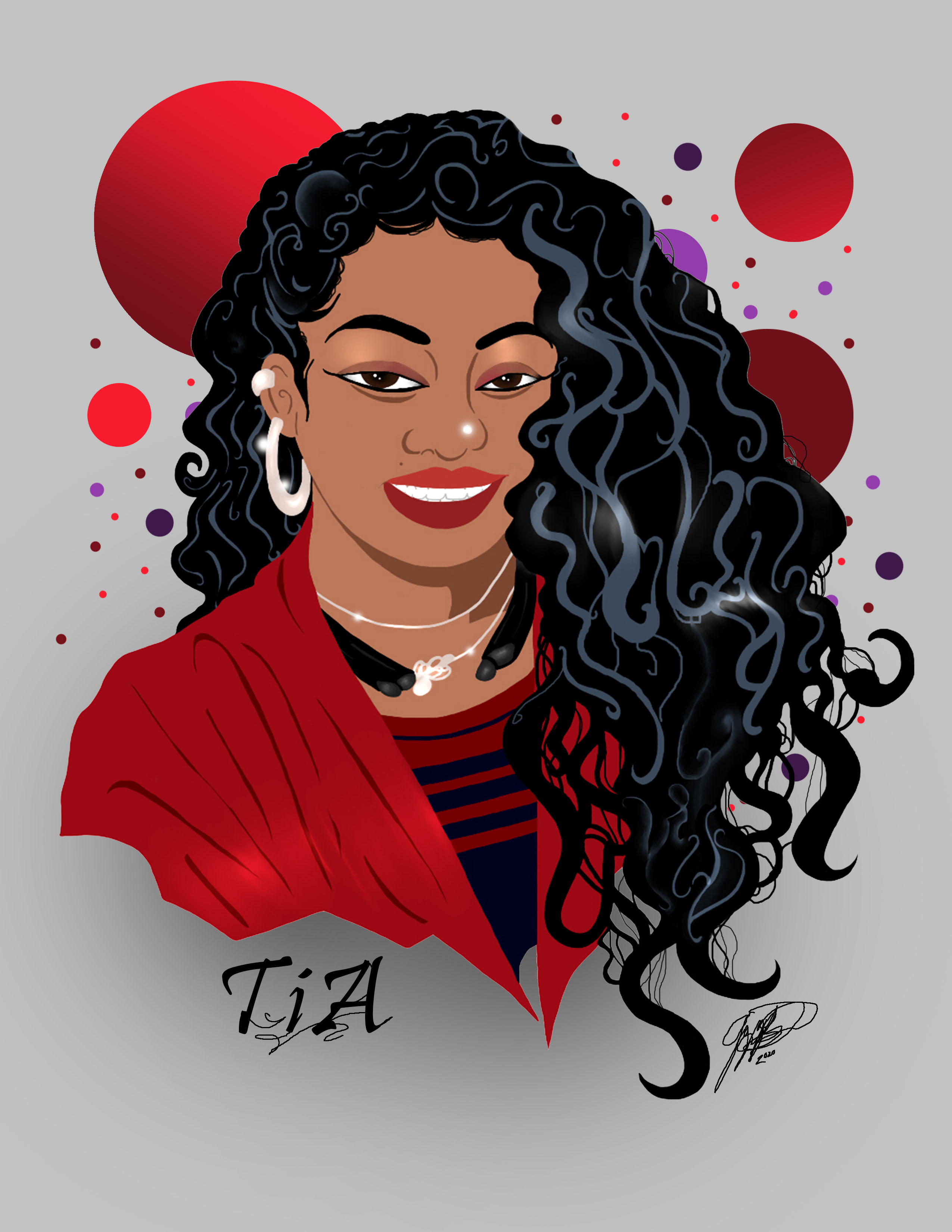Tia Chalmers Caricature