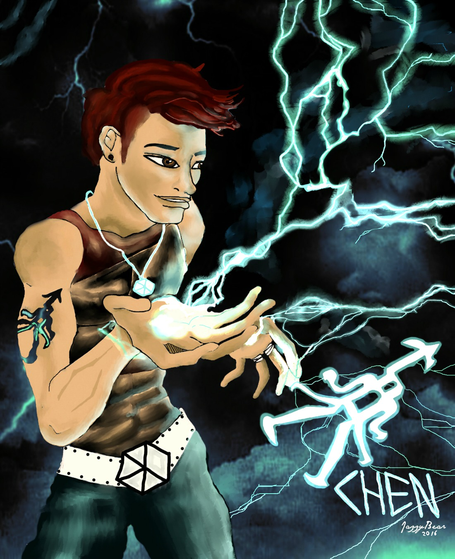 EXO Chen Lightning 2016