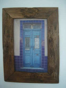 Rustic Blue Door 42cm x 31cm