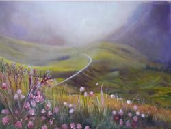 Road through the Hills Springtime