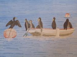 Cormorants posing at Ferraguda