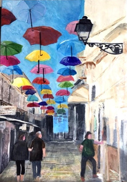 Parasols in Olhao