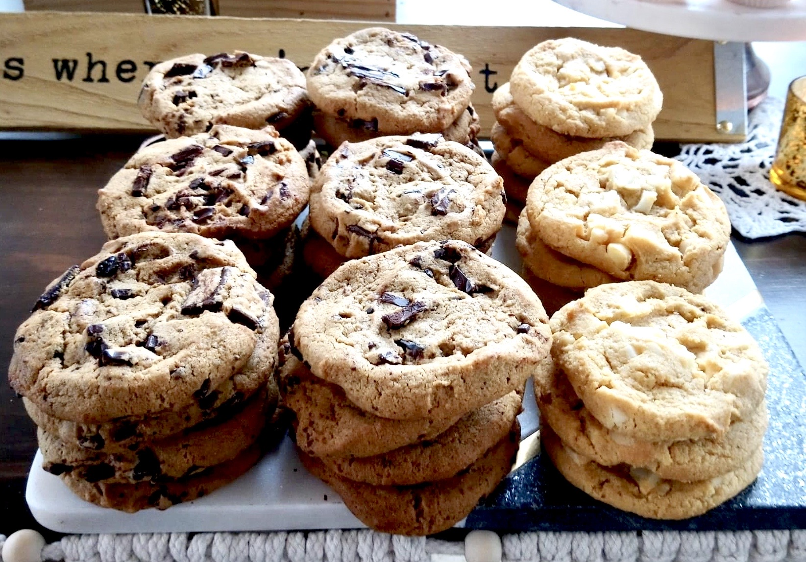 Stacks of Cookies