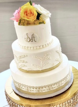 Lace Trim and Monogrammed