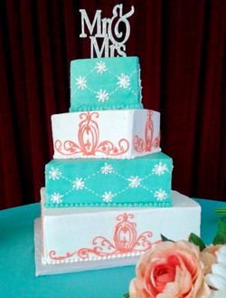 Beach Coral and Turquoise Design