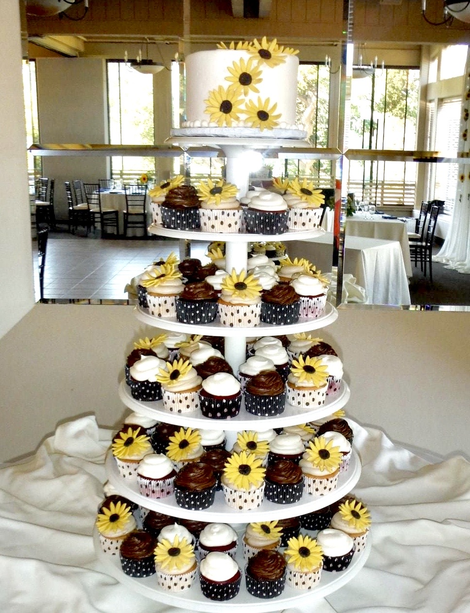 Sunflower and Polka Dots