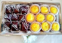 Chocolate-Covered Cheesecake & Lemon Dessert Tarts