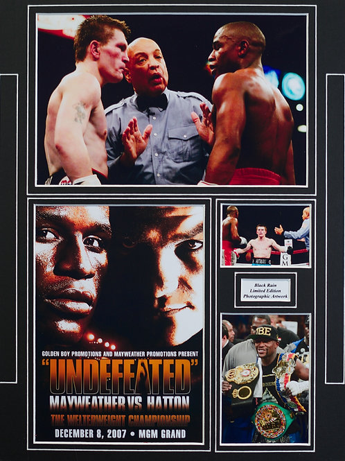 Mayweather - Hatton Framed Print