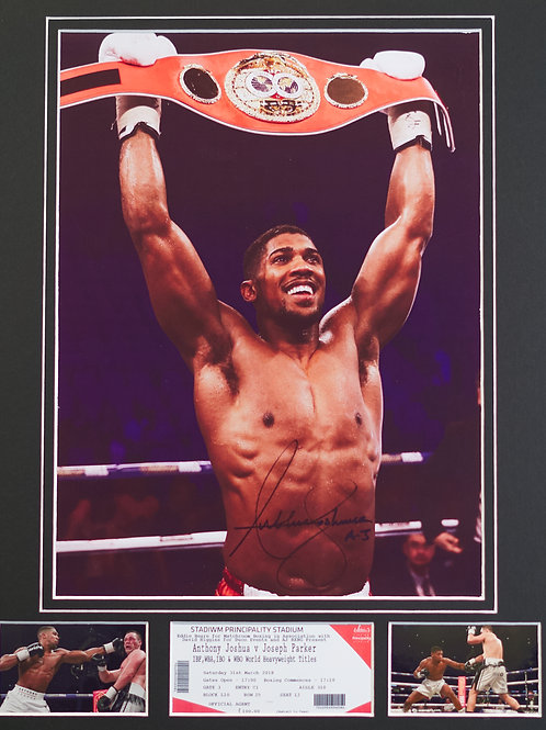Anthony Joshua - Framed Print (Includes Ticket from Parker fight)