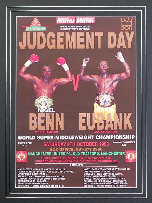 Benn v Eubank Poster Framed Print