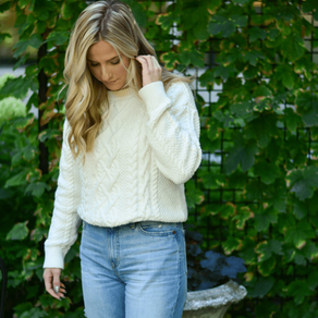 Cozy Sweater and Girlfriend Jeans