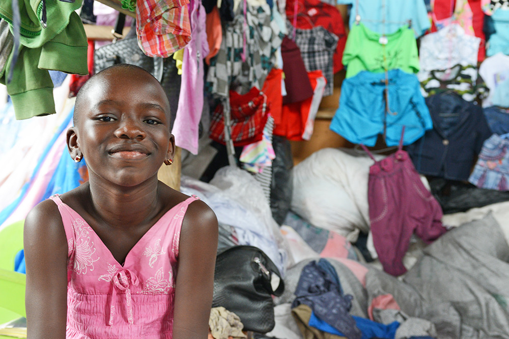 Child at the Kantamanto Market, Accra, Ghana