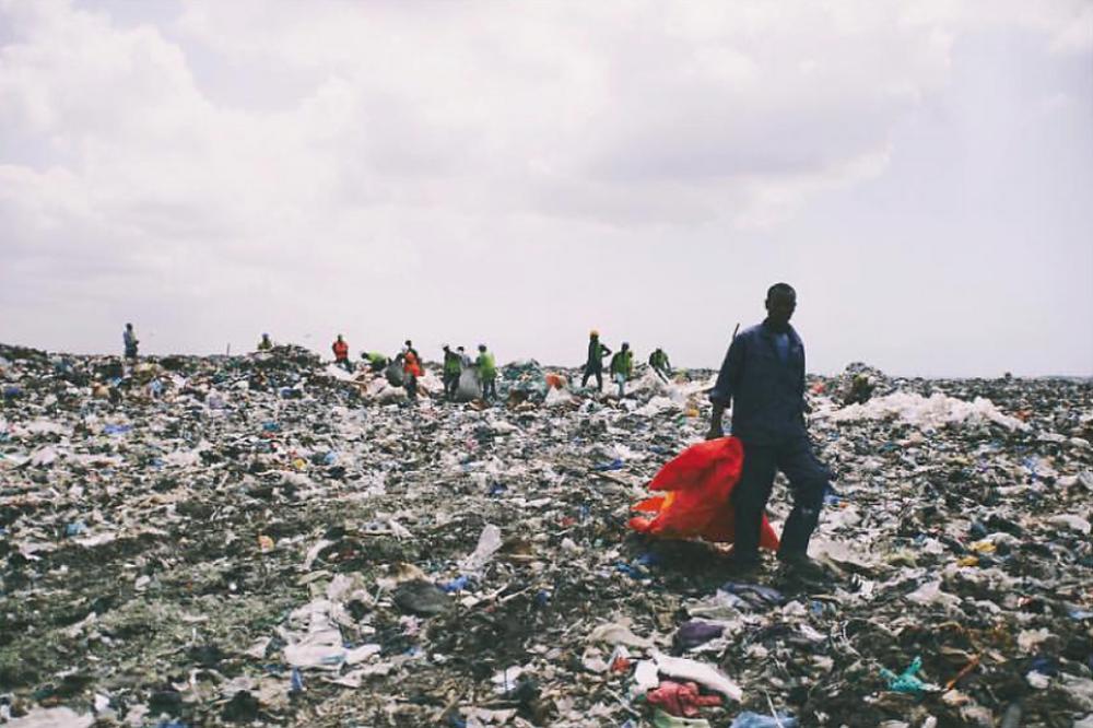 Ghana, Accra plastic bottle waste