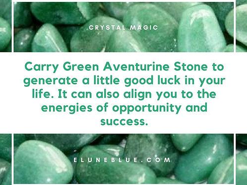 1pc Green Adventurine Stone