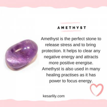 1pc Amethyst Stone