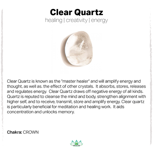 1pc Clear Quartz