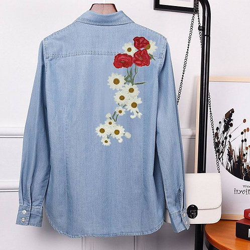 Chrysanthemum Large Motif back jacket