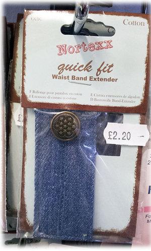 Jeans Waist BandExtender Lt blue shipley haberdashery & crafts west yorkshire online