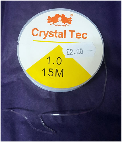 Jewellery making elastic clear shipley 0.5 & 1.0 mm