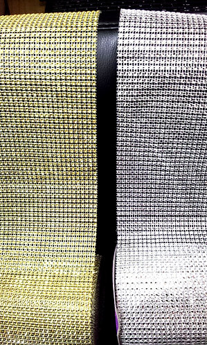 Diamond Mesh Gold or Silver 120 mm