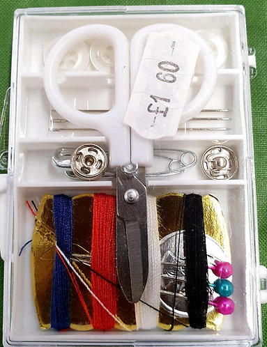 Travel sewing kit emergency repairs shipley haberdashery & crafts online west yorkshire uk contents of kit