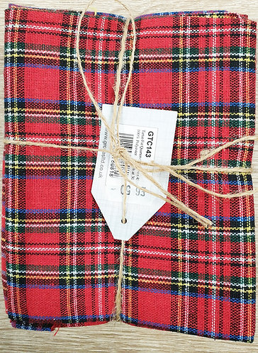 Tartan fat quarters shipley haberdashery & crafts online uk front colour