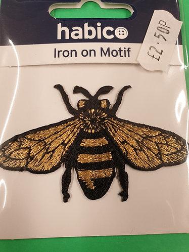 Bee iron on motif shipleyhaberdashery and crafts online west yorkshire uk