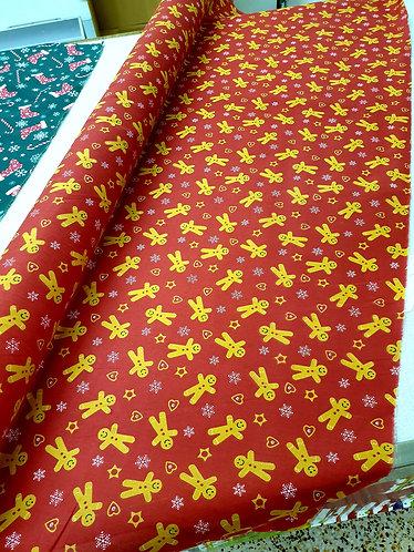 Christmas Gingerbread fabric Shipley
