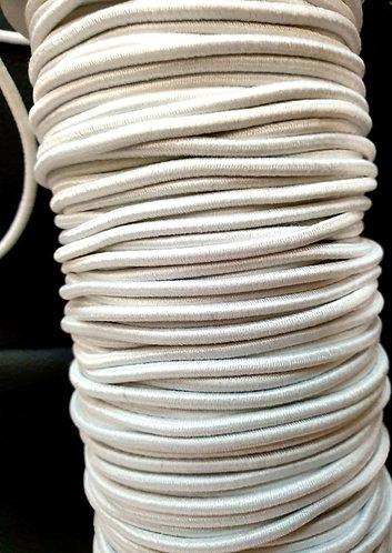 Round elastic mask making white shipley haberdashery