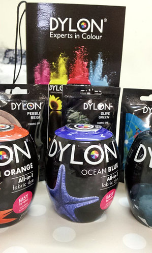 Dylon machine pods shipley haberdashery showing pod and colours