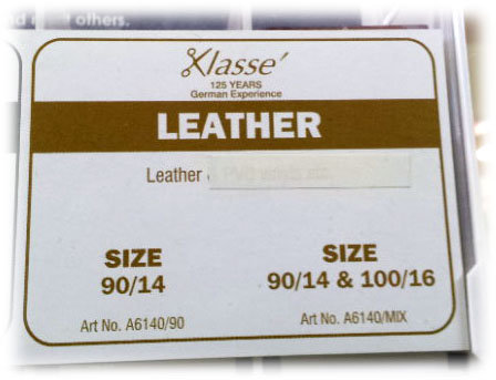 Klasse leather sewing machine needles shipley haberdashery & crafts west yorkshire online