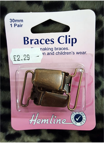 Braces Clip Bronze fashion childrens wear Shipley Haberdashery West Yorkshire