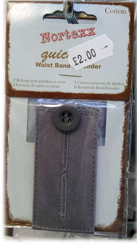 Trouser Waist Band Extender (Button Fastening) shipley haberdashery & crafts west yorkshire online