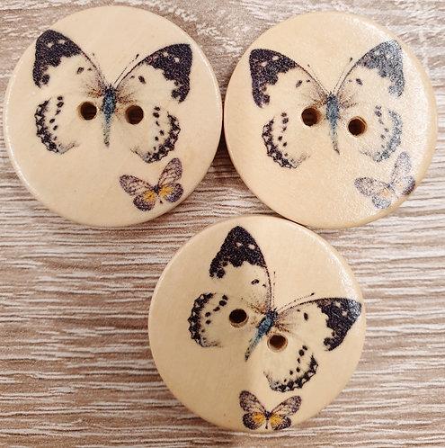 wood butterfly button 30mm shipley haberdashery online uk